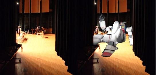 14mの舞台にガンダムを寝かせてみた