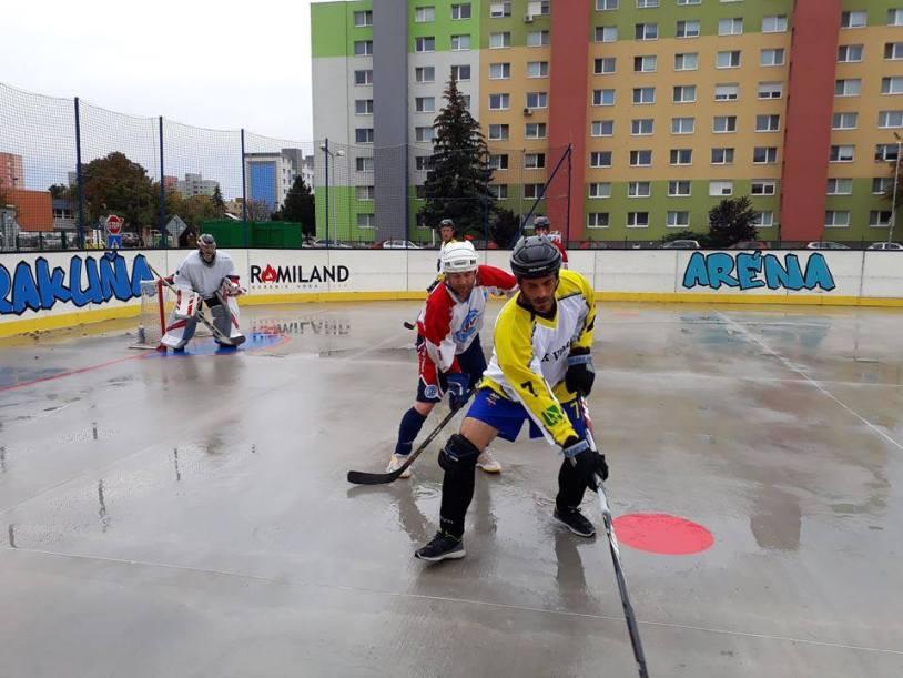 Hokejbal - HBK Board Vrakuňa vs SAV Lamač