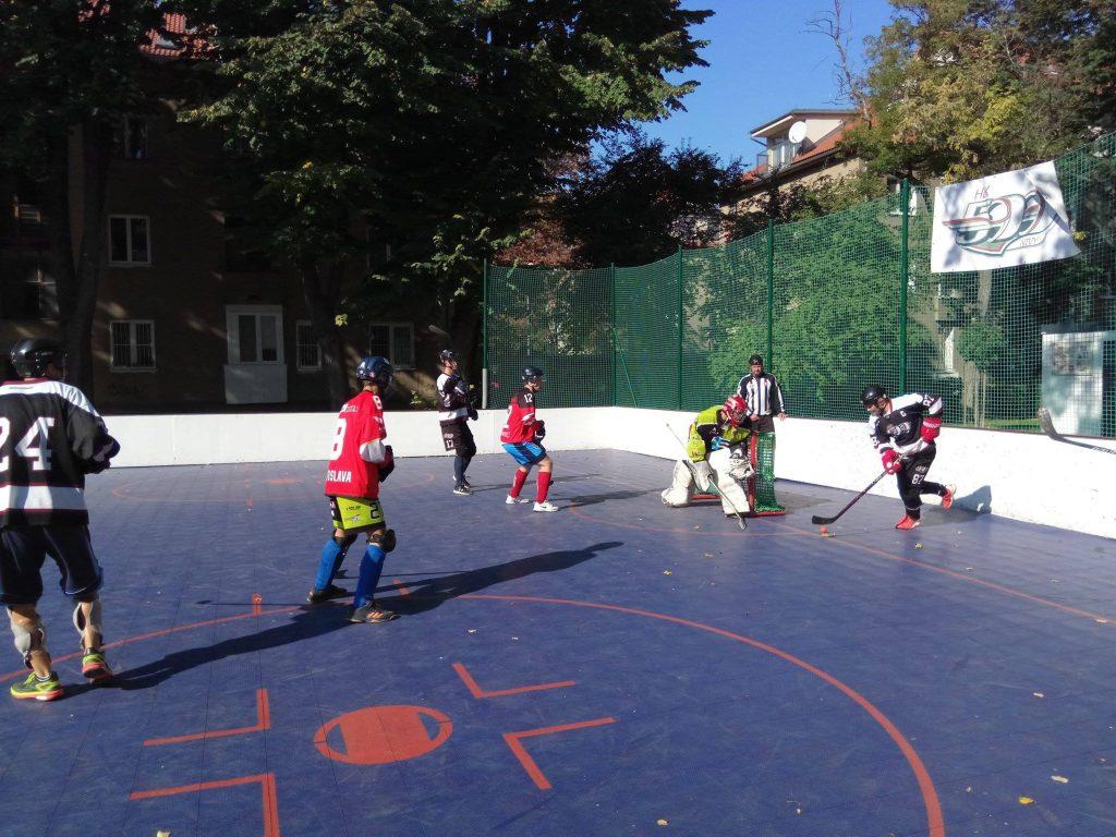 Hokejbalový zápas BHBL HBK 500 Nivy vs Barbari Bratislava