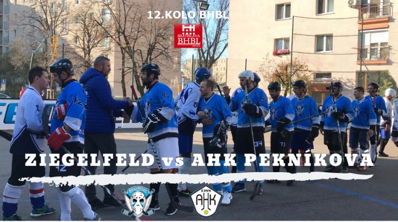 BHBL Hokejbal - 12.kolo - Ziegelfeld vs AHK Pekníková
