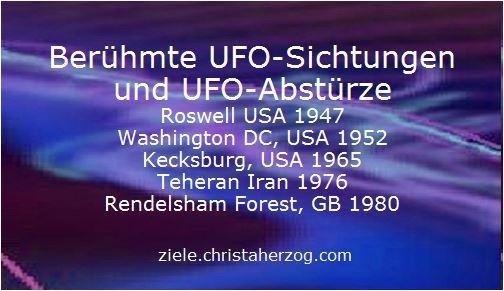Berühmte UFO-Sichtungen und Abstüre