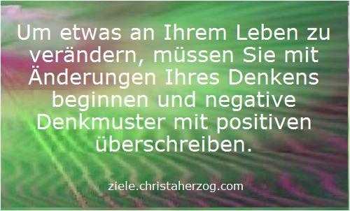Negative mit positiven Denkmustern ersetzen