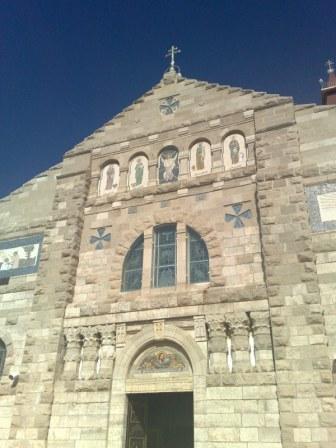 Miejscowość ta to również jedno z większych skupisk chrześcijan w Królestwie Jordanii. Na zdjęciu kościół rzymsko-katolicki.