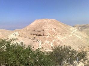 Macheront. Jedna z fortec Heroda Wielkiego usytuowana na szczycie pustynnego wzgórza na wschód od Morza Martwego (739 m npm).