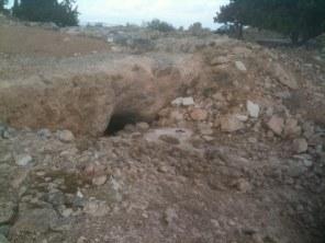 Same kamienie i groty - tak w chwili obecnej prezentuje się rzeczywistość Tekoa, miasta proroka Amosa