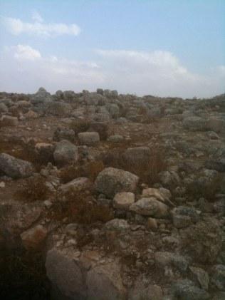 Odnaleziono tu pozostałości świątyni bizantyjskiej pw. proroka Amosa, wykute w skale cysterny, zbiorniki na ziarno i groby.