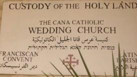 Miejsce pierwszego cudu Jezusa - przemiany wody w wino, znajduje się 8 km od Nazaretu