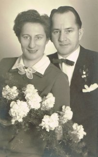 Hochzeit meiner Eltern Rosalie und Josef Müller 1955