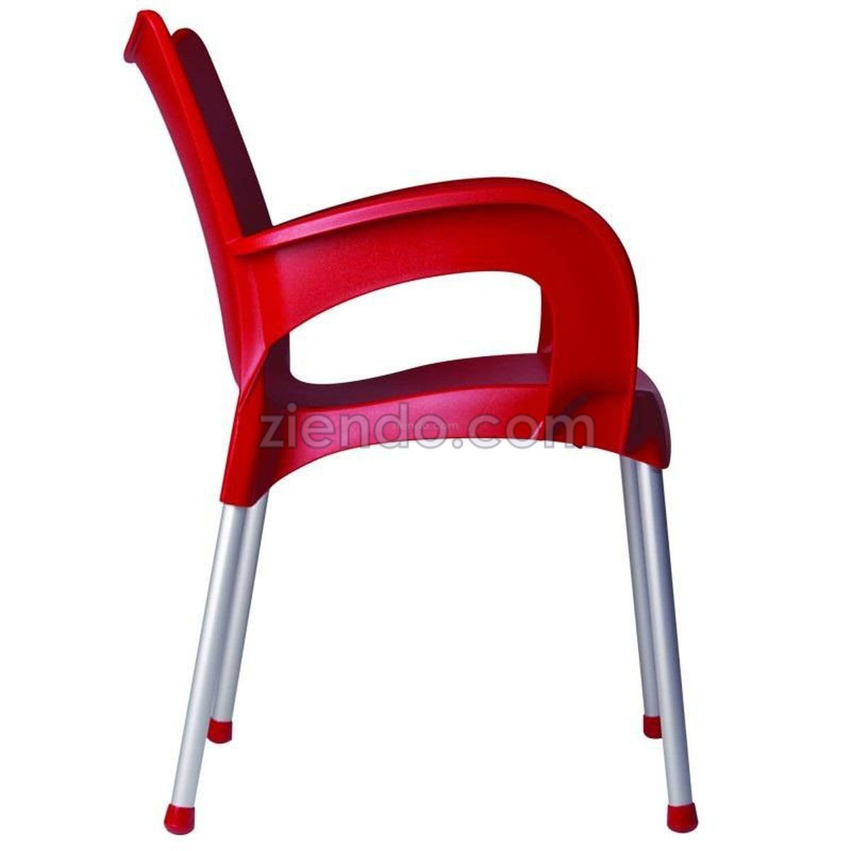 Plastic Outdoor Chair Outdoor Multipurpose Plastic Arm Chair Red Ziendo Online
