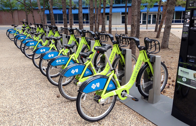 Bike-sharing programs in some of our bigger cities will cost riders some money, but not the programs in the Twin Tiers. They are free.