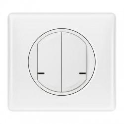 Commande double sans fil pour éclairage, prise connectée ou micromodule Céliane Netatmo