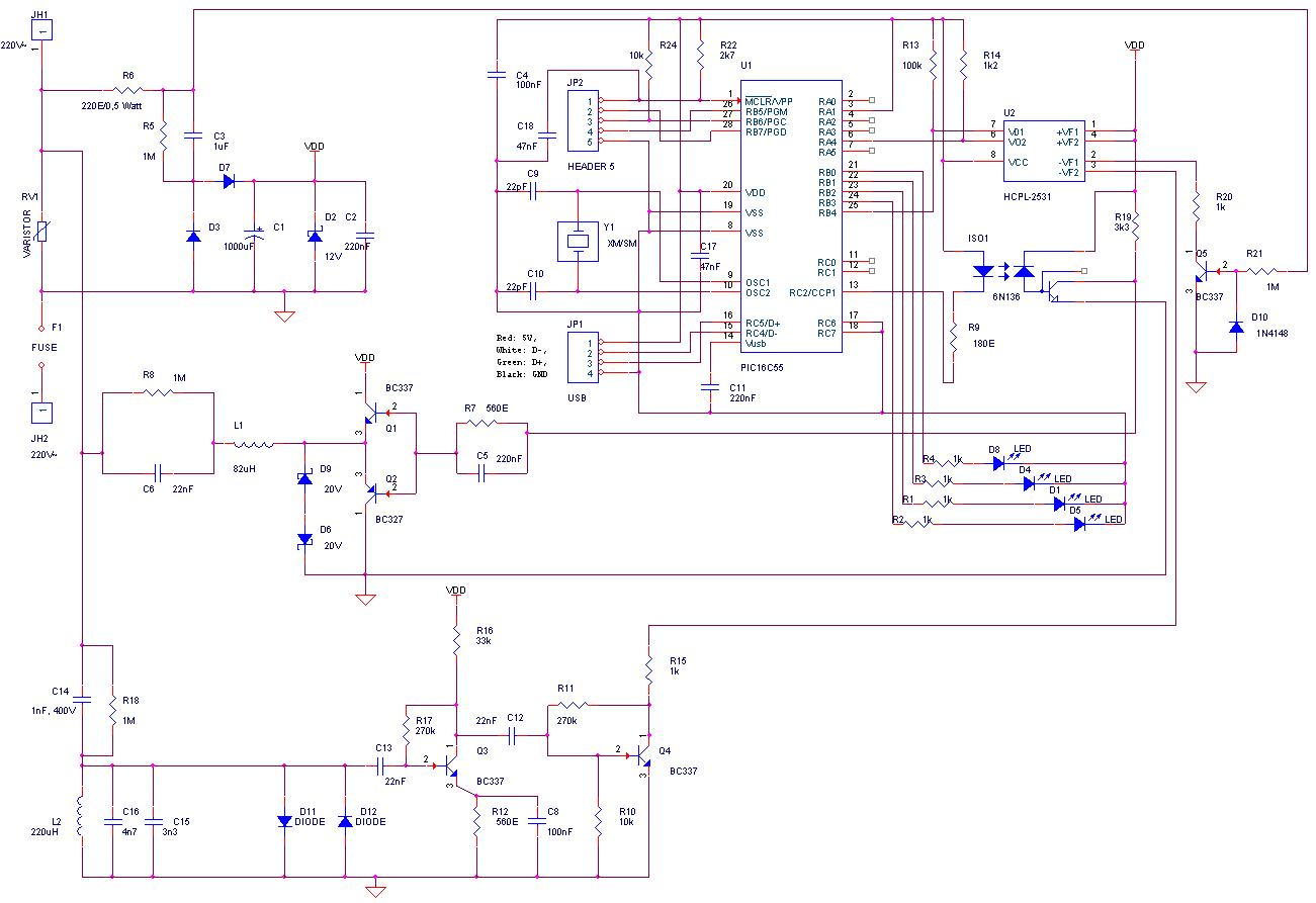 hight resolution of here is the schematic used for the cm11a compatible x10 modem