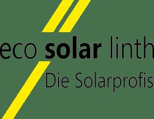 Logo der Firma eco solar linth