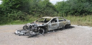 burnt car of zimbabweans