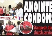 Anointed condom