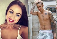 Justin Bieber and Laura Carter