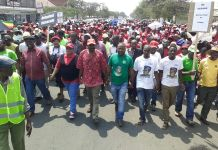 Pictures of #NERA demonstration in Zimbabwe