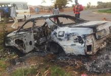 Facebook Post CLAIMS Patson Dzamara was ABDUCTED and his Car Burnt - Pictures