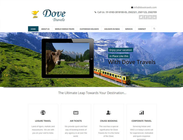 dove travels amritsar - zigsee web solutions past work