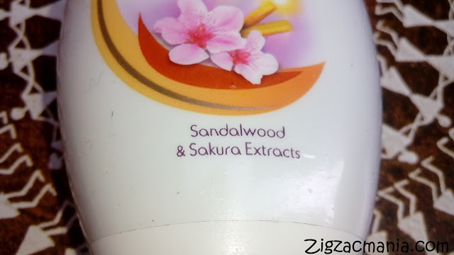 Santoor Whitening & UV Protection Body Lotion: Ingredients