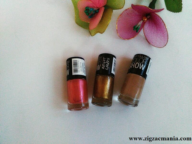Maybelline Color Show Nail Paints (Chrome Pink, Burnished Gold & Nude Skin) Price, Packaging, online availabliity