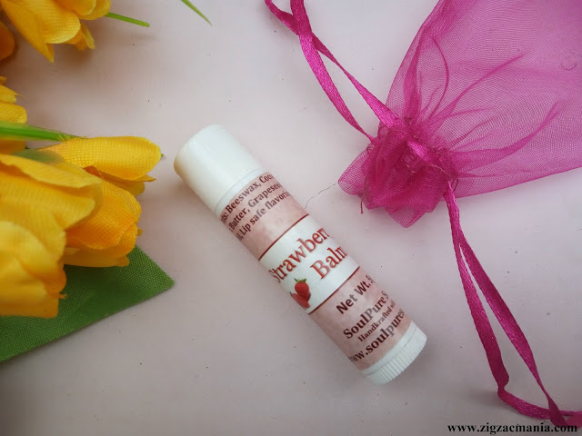 SoulPure Strawberry Lip Balm Review
