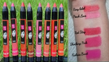 Elle 18 Go Matte Lip Crayon (All shades)| Review & Swatches