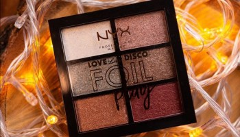 NYX Foil Play Eyeshadow Palette|Review & Swatch