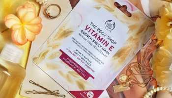 The Body Shop Vitamin E Quench Sheet Mask| Review