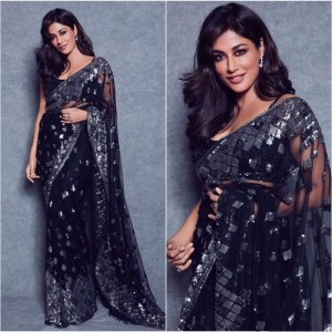 How To Wear Net Saree