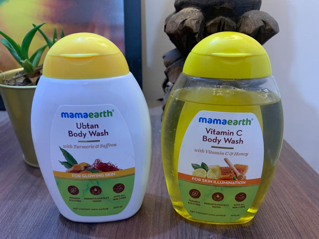 MamaEarth (Ubtan) & (Vitamin C) Body Wash