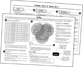 SPaG Topic on a Page for GCSE English Language