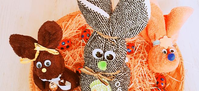 Super Geschenkidee Zu Ostern Osterhasen Aus Waschlappen Basteln