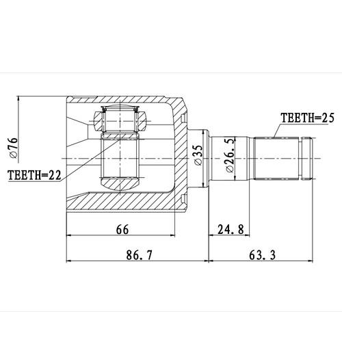 Z87791R — ZIKMAR — CV Joint Kit, Inner — Zikmar