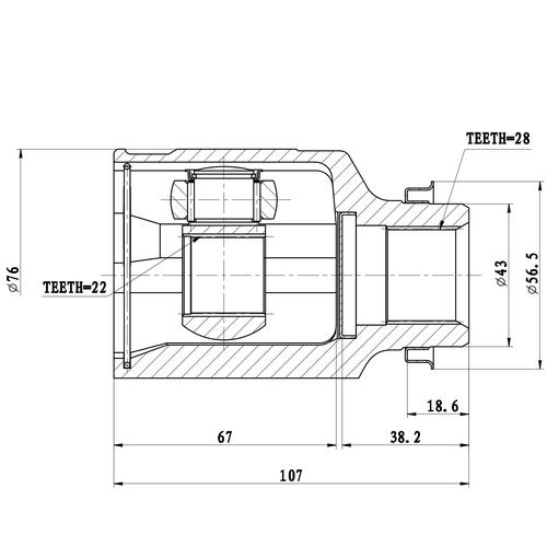 Z87807R — ZIKMAR — CV Joint Kit, Inner — Zikmar