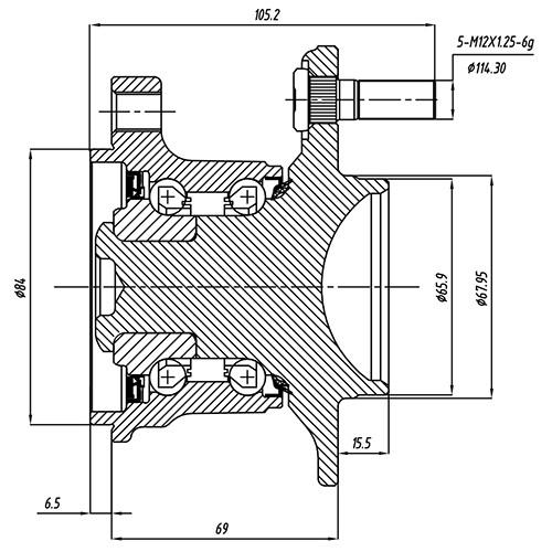 Z89162R — ZIKMAR — Wheel Hub — Zikmar