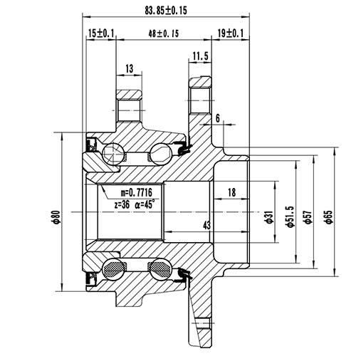 Z89171R — ZIKMAR — Wheel Hub — Zikmar