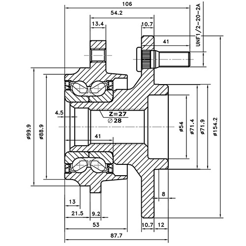 Z89264R — ZIKMAR — Wheel Hub — Zikmar