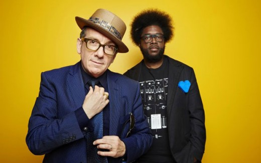 Elvis Costello and Questlove from The Roots