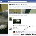 Facebook Hack profail Zikri Husaini, kucing lah pulak!