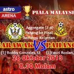 Pahang mara ke final bertemu Kelantan, Piala Malaysia 2013
