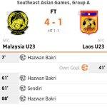 Malaysia u23 tewaskan laos u23 4-1, sukan sea 2013