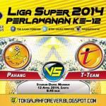 Keputusan terkini Pahang vs t-team, 12.04.2014