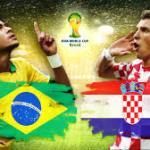 Keputusan terkini brazil vs croatia 13 jun 2014