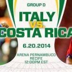 Keputusan terkini italy vs costa rica 21 jun 2014
