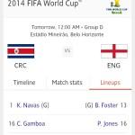 Keputusan terkini england vs costa rica 25 jun 2014