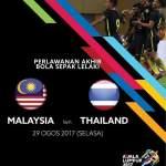 Live streaming malaysia vs thailand sukan sea 2017