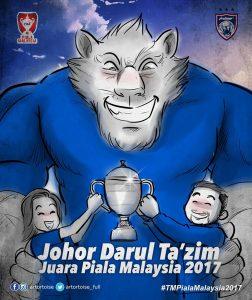 jdt juara piala malaysia 2017,