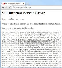 youtube server down,