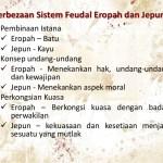 Bandingan/Perbezaan Masyarakat Feudal England dan Jepun
